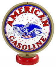 American Gasoline Gas Pump Globe Desk Lamp
