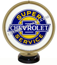 Chevrolet Super Service Gas Pump Globe Desk Lamp