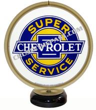 Chevrolet Super Service Gas Pump Globe Desk Lamp