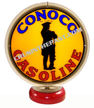 Conoco Minutenman Gasoline Gas Pump Globe Desk Lamp