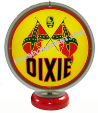 Dixie Gasoline Gas Pump Globe Desk Lamp
