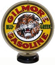 Gilmore Blu-Green Gasoline Gas Pump Globe Desk Lamp