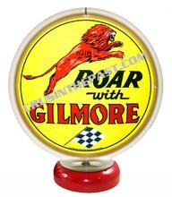 Gilmore Roar Gasoline Gas Pump Globe Desk Lamp