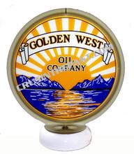 Golden West Gasoline Gas Pump Globe Desk Lamp