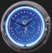 EMS, Emergency Medical Service Neon Clock