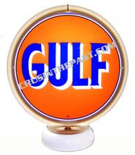 Gulf Oil Gasoline Gas Pump Globe Desk Lamp