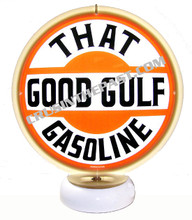 "Gulf Oil ""That Good Gulf"" Gasoline Gas Pump Globe Desk Lamp"