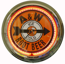 A&W Root Beer Neon Clock
