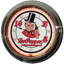 Dr Pepper Classic Neon Clock