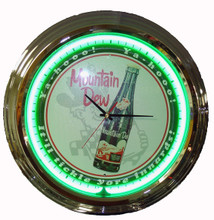 "Mountain Dew ""Tickle Your Inerds"" Neon Clock"