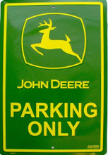 John Deere Parking Large Metal Sign