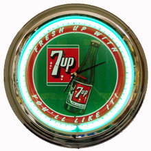 "Seven Up ""The Un-Cola"" Neon Clock"