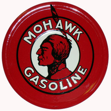 Mohawk Gasoline Round Metal Tin Sign