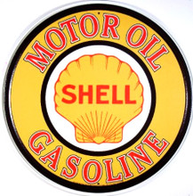 Shell Oil Gasoline Round Metal Tin Sign