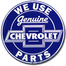 Chevrolet Genuine Parts Blue Face Round Sign