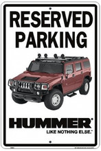 "Hummer ""Reserved Parking"" Tin Sign"