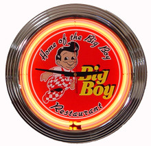 Big Boy Resturant Neon Clock