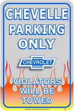 Chevelle Parking Only Tin Sign