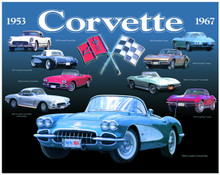 Corvette 1953-1967 Tin Sign