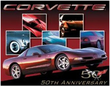 "Corvette ""50th Anniversary"" Tin Sign"