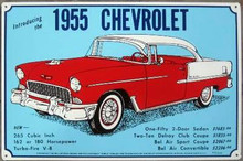 Chevrolet 1955 Hard Top Tin Sign