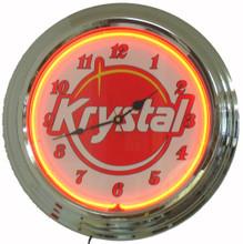 Krystal Hamburgers Neon Clock