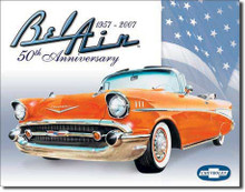 "Chevrolet  Bel Air 1957 ""50th Anniversary"" Tin Sign"