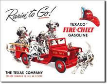 "Texaco ""Rarin To Go""  Tin Sign"