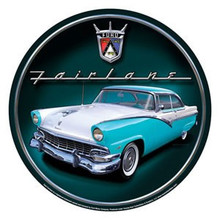 Ford Fairlane Round Tin Sign
