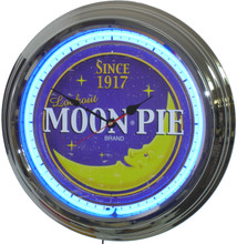 Moon Pie Neon Clock