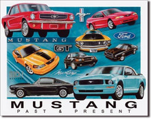"Ford Mustang ""Past & Present"" Tin Sign"