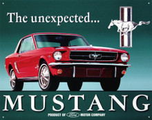 "Ford Mustang ""The Unexpected"" Tin Sign"