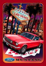 """Ford Mustang """"Las Vegas"""" Tin Sign"""
