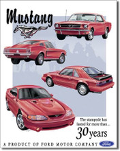 "Ford Mustang ""30 Years"" Tin Sign"