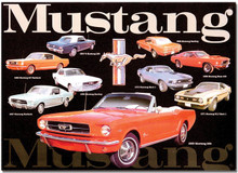 "Ford Mustang ""Classic Years"" Tin Sign"