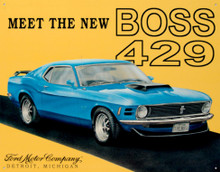 Ford Mustang Boss 429 Tin Sign