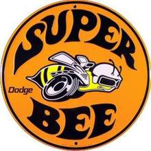 Super Bee logo Round Tin Sign
