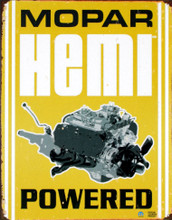 "MoPar Hemi Powered ""Distressed Look"" Tin Sign"