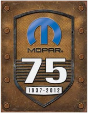 "MoPar ""75 Years"" Tin Sign"