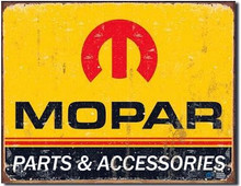 "MoPar Parts & Accessories ""Distressed Look"" Tin Sign"