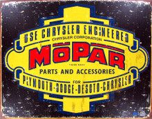 "MoPar Chrysler Engineering ""Distressed Look"" Tin Sign"