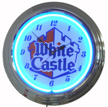 White Castle Hamburgers Neon Clock