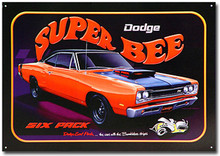 "Dodge Super Bee ""Scat Pack"" Tin Sign"