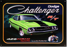 "Dodge Challenger RT ""Scat Pack"" Tin Sign"