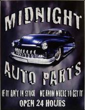 Midnight Auto Parts Tin Sign