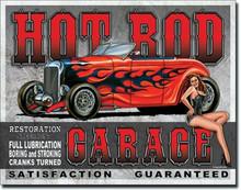 Hot Rod Garage Tin Sign