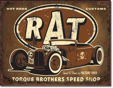"Torque Brothers Speed Shop ""Distressed Look"" Tin Sign"