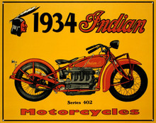Indian Motorcycle 1934 Tin Sign