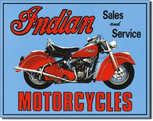 Indian Motorcycle Sales & Service Tin Sign