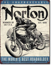 "Norton Motorcycles ""Distressed Look"" Tin Sign"